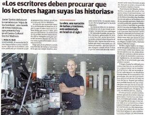 Entrevista a Javier Santos en El diario Montañés.