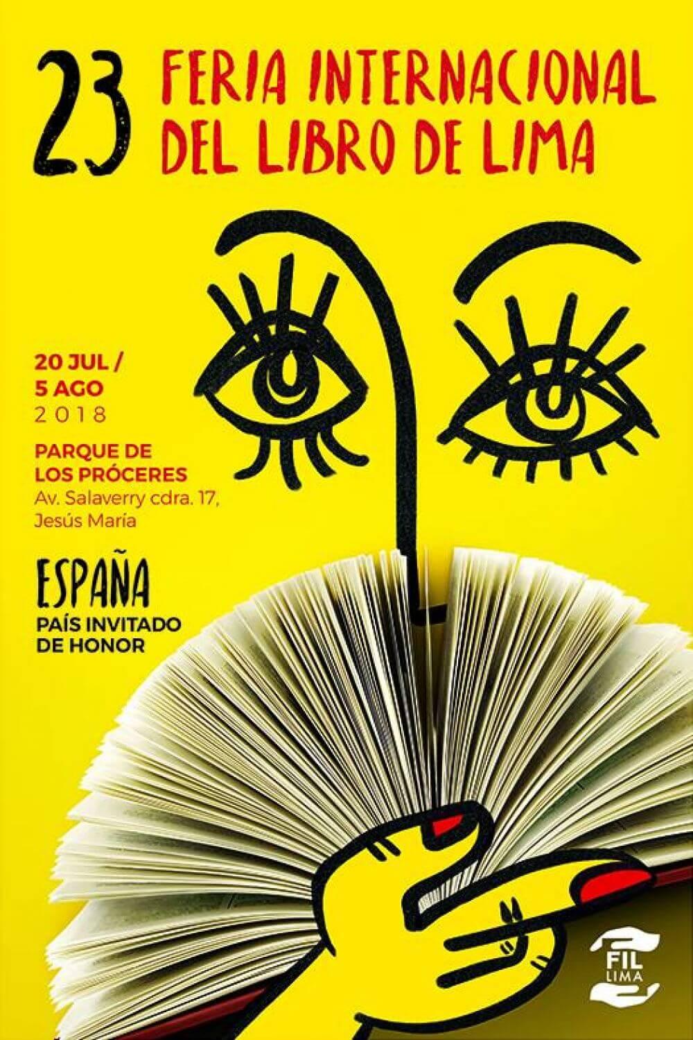 Cartel Feria del libro de Lima