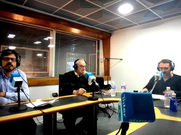 J con los autores Víctor Moreno y Emilio Díaz Casero