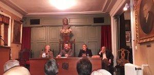 Organizadores del Festival Octubre Negro en Madrid.