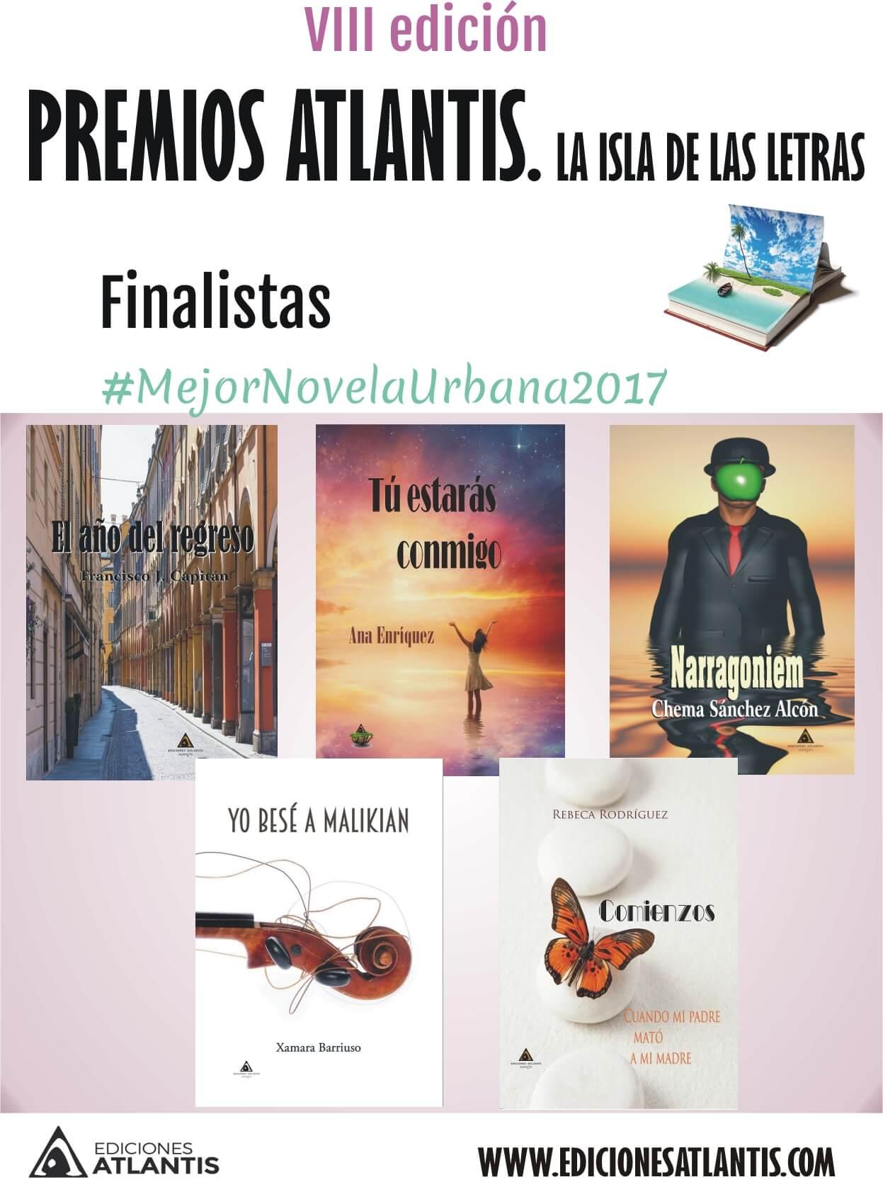 Premios Atlantis. Finalistas a mejor novela urbana