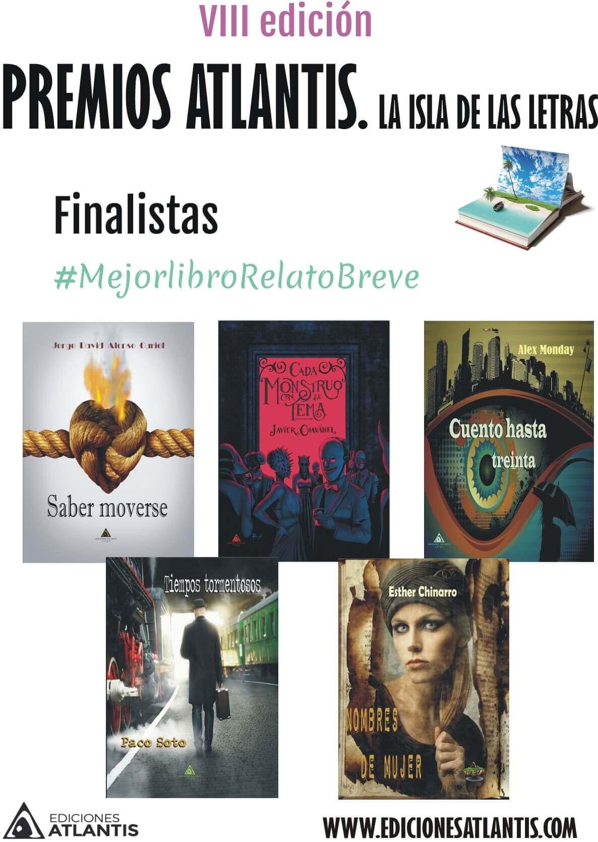 Finalistas mejor libro de relatos. (www.edicionesatlantis.com)