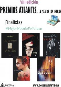 Finalistas a mejor novela urbana de los Premios Atlantis 2017