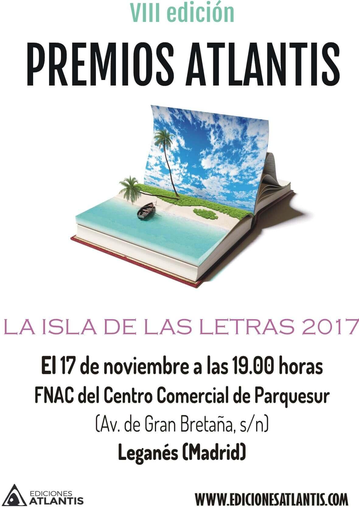 Cartel de la VIII edición de los Premios Atlantis